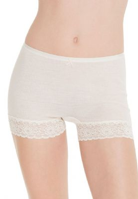 Short Style Thermal Brief with Lace Trim